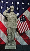 UNITED STATES ARMY WOMAN CAMO SOLDIER