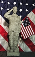 UNITED STATES ARMY WOMAN CAMO SOLDIER (African-American)
